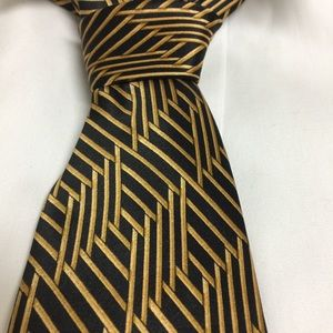 Lanvin Black and Gold Tie